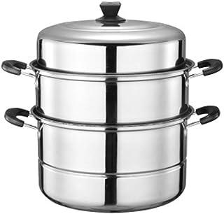 Vaporera de acero inoxidable, grande, multifunción, apta para una variedad de cocinas, comida, vaporizador/olla de almacenamiento 32 cm Color