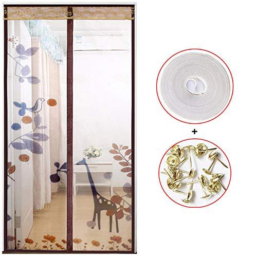 Xervg Balkontür Küche Trennwand Vorhang Verschlüsselung Mesh Vorhang Schlafzimmer-100 x 220 cm_braun