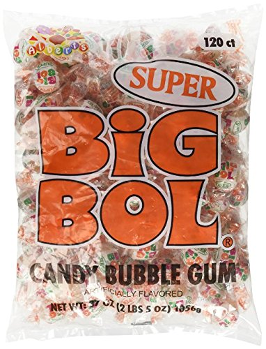 Albert's SUPER SIZE BIG BOL Candy Bubble Gum 120 count