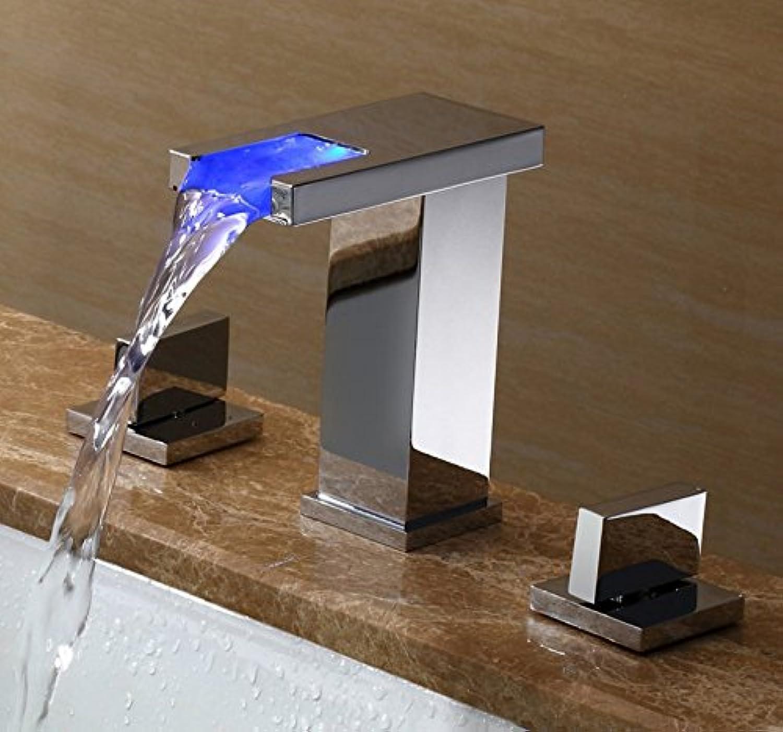 LHbox Bad Armatur in Bad für Waschbecken Waschtisch Wasserhahn Waschtischarmatur Waschtisch Armatur, 3-tlg, 20 Einstellen