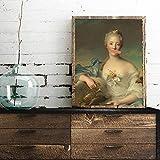 DNJKSA Antique Art Canvas Print Female Portrait 1700s Vintage Poster Wall Art Altered Painting Boho Wall Picture Home Decor/60x700cm-No Frame