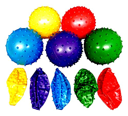 Rhode Island Novelty 50 Knobby Balls 5 Colors 4 Inch Childrens Party Favor Toy 10 of Each Color