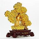 SOOSING Cristal Dinero árbol curación Piedras Preciosas Bonsai Fortuna Ornamentos Bonsai Feng Shui Dinero árbol Suerte Fortuna Prosperidad casa Mesa de Comedor artesanía decoración