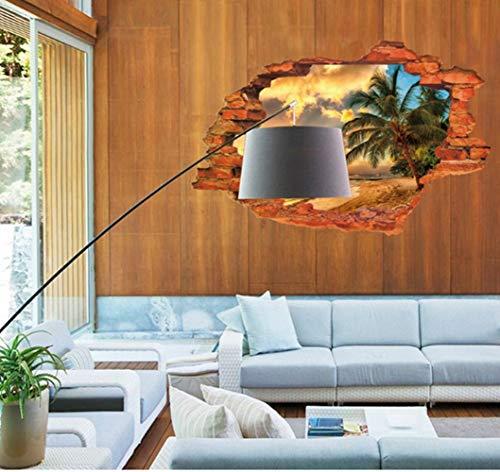 ZBYLL Mural 3D Paysage Coucher du Soleil Mur intérieurs de Coco Island Seascape