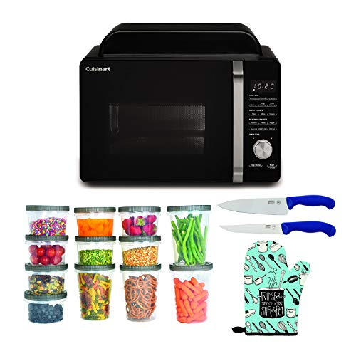 Cuisinart AMW-60 3-in-1 Microwave AirFryer Convection Oven Bundle with...