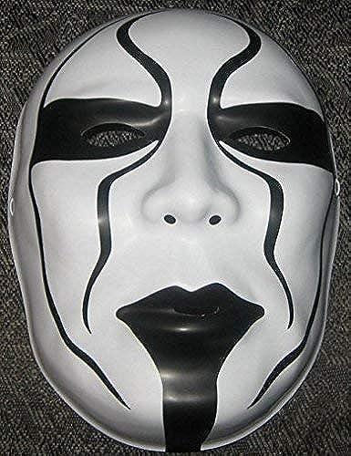 Wrestling Sting WWE Offiziell Maske - Kostüm Verkleidung Kostüm Outfit Halloween Gesichtsmaske - mit Gummiband