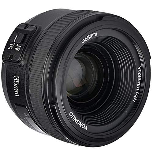YONGNUO 35mm Objetivo YN35MM Lente Large Aperture Auto Focus Lens para Nikon DSLR Cámara...