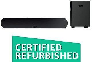 (Renewed) Philips HTL1032 2.1 Channel Bluetooth Soundbar Speakers with Subwoofer (Black)