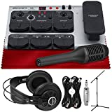 Zoom V6 Vocal Processor with Voice Processing, Harmony, Effects, 40 Presets, Looper, and Included SGV-6 Shotgun Mic + SR850 Stereo Headphones, Mic Stand, Cables & Fibertique Microfiber Cleaning Cloth
