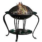 CRZJ Feuerstelle im Freien, mit Schutzhülle und Poker, Upgraded Stahl Außenpatio Heizung, Brenner für Holz und Holzkohle in Garten