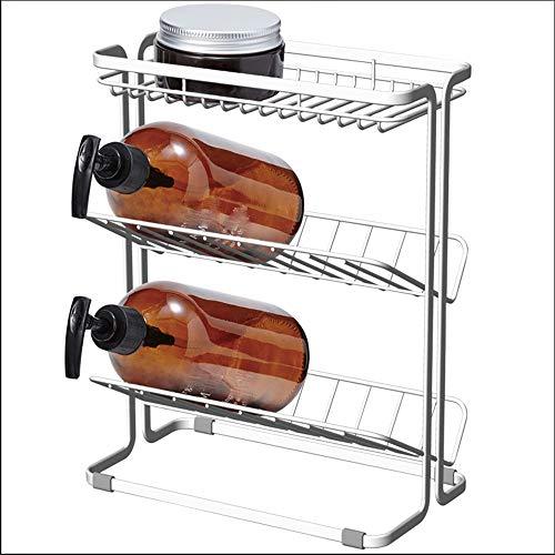 ChengLaoBan Shop Rack Bad Regal Lagerregal Waschtisch Bad Bad Regal Ecke Schminktisch Hänge-Racks Küche