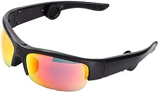 CAPTIANKN Bone Conduction Wireless Bluetooth Sunglasses, Open Headphones Music and Hands-Free Call Sports Smart Sunglasses,A