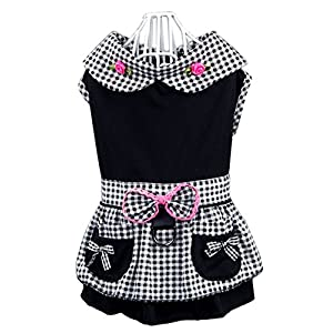 Hdwk&Hped Small Dog Dress with Leash Ring, Puppy Cat Walking Dress Pet Skirt 2 Styles #1-#5