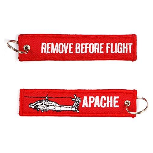 Remove Before Flight Apache Heli sleutelhanger sleutelring