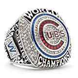 NFL pour 2016 Chicago Cubs championnat anneau Rugby Super Bowl 9-12 taille Fan souvenirs réplique anneau de mouvement avec boîte en bois, 40