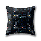 GYTOP Pac-Man Retro Arcade Gaming Design Housses de Coussin Carré 45x45 cm