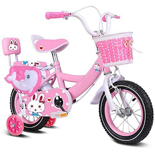 DREAMyun Bicicleta de niña 3-9 años 12 14 16 18 Pulgadas Ruedas auxiliares Bicicletas Infantiles Bicicleta para niños