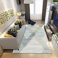 HBZY 装飾エリアラージラグ 北欧ミニマムスタイル新幾何学模様ベッドサイドレクタングル洗濯機可 屋内フロア カーペット非スリップの低プロファイルのベッドルーム リビング ルーム 玄関