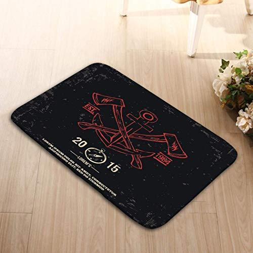 Amanda Walter Napperons en Tissu Lavable pour décoration de Table de Cuisine de Salle à Manger 23.6X15.7 Anchor Ed Axes Design Elements Print