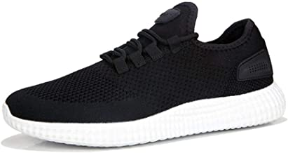 MYHYZZ-Athletic Shoes Fashion Sneaker for Men Athletic Sports Shoes Lace up Knit Mesh Fabric Lightweight Training Running Men's casual shoes