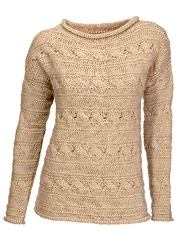 Heine - Best Connections Zopfmuster-Pullover beige Größe 44/46