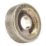 HHOSBFSS Rueda De Molienda De Diamante De 50/60 / 80mm Molinillo Redondo Piedra De Molino De Grádica De Ángulo De Corte Herramienta Giratoria para Pequeña Amoladora Lateral, Lijadora (Size : 60mm)