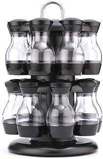 Rotation Cruet Condiming Assaisonnier Pors Set Spices Poivre Sel Shakers Porte-Cuisine Article de Rangement de Cuisine Org...