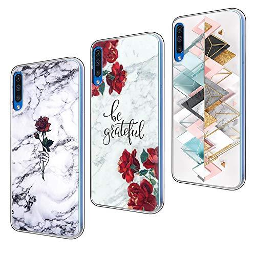 ZhuoFan Funda Samsung Galaxy A50 / A30s, Cárcasa Silicona Transparente con Dibujos Diseño Suave TPU Gel Antigolpes de Protector Piel 3 Pack Case Cover Bumper Fundas para Samsung A50 / A30s 2019, 05
