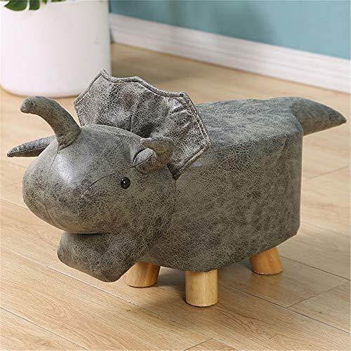 Animal Hockers, Padded Cushion Poef Poef Kruk Rest Seat Fauteuil Decor Meubels Voor Kids Volwassenen Met Houten Poten,C