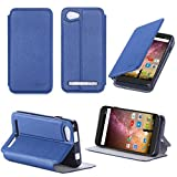 XEPTIO Leather Case Archos 40 Power Blue Ultra Slim