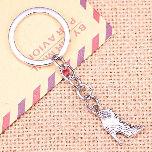 TAOZIAA Fashion Sleutelhanger 23x15mm vintage schoenen met hoge hakken Hangers DIY Mannen Sieraden Auto Sleutelhanger Souvenir Voor Gift