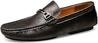 Juego de conducción para Hombres Zapatillas de Guisantes para pies Zapatos de Cuero Casuales para Hombres Zapatos de Cuero Moda