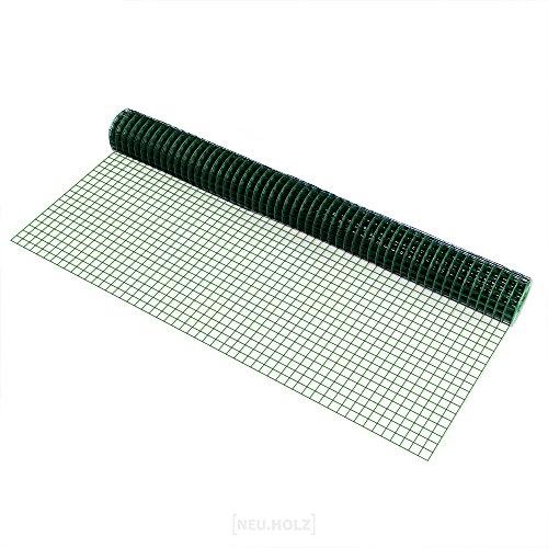 pro.tec Drahtgitter 4-Eck 1m x 5m grün Schweißgitter Volierendraht Maschendraht Zaun