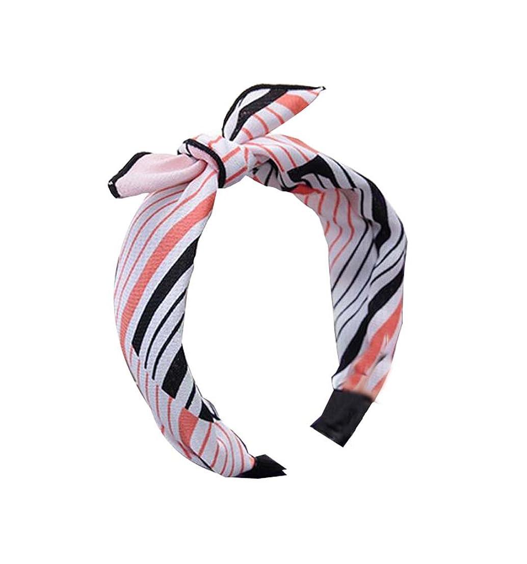 周術期司書六月シンプルなストライプヘアアクセサリーヘアバンドスウィート気質ヘッドドレス