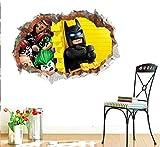 chgznb Stickers muraux Stickers muraux Stickers muraux 3D Stickers muraux 3D Mur brisé Batman Pépinière Pépinière Environnement Jetable Mobile Décalques Environnementaux