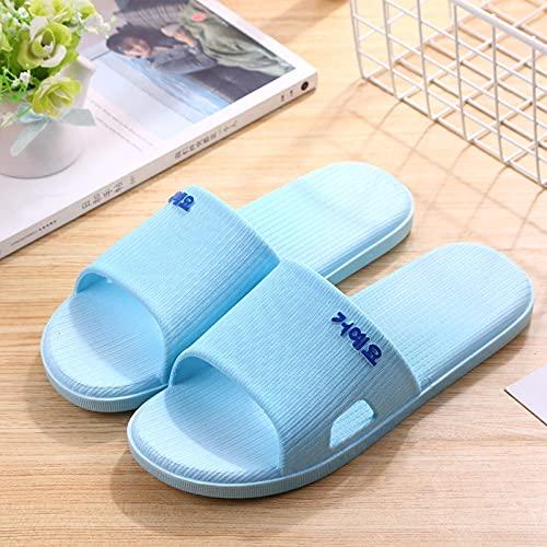 Kirin-1 Chanclas Hombre Verano,Baño Antideslizante Suave Suave Zapatos de casa de Verano Sandalias de Sandalias de Verano zapatillas-42-43_Azul Claro