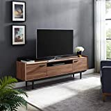 Modway Visionary 70' Mid-Century Modern Low Profile Entertainment TV Stand in Walnut Black