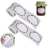 Jam Adesivi Autoadesivi,BETOY 400 pezzi Etichette Adesive, Etichette Autoadesive Jam Labels Household Etichette Etichette Regalo per vasetti di marmellata e contenitori alimentari