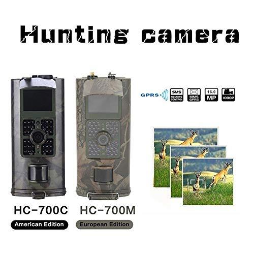 KUANGQIANWEI wildcamera jachtcamera tracking camera 1st 2G GSM MMS SMS 0,5s triggertijd 16MP nachtzicht Live Animal Surveillance HC700M