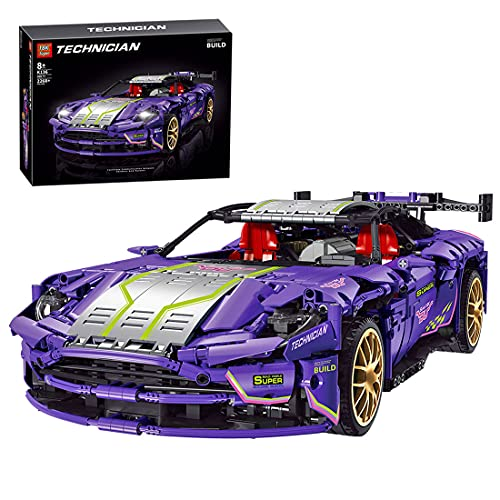 Mocdiy Bloques de construcción para coche deportivo Aston Martin DB11, juego de construcción, 2268 piezas de coche de carreras, bloques de sujeción, compatibles con Lego Technic