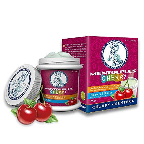 Mentolplus Cherry Bálsamo Mentolado 100% Natural | Especial niños | Con Aceites Esenciales y Aroma a Cereza