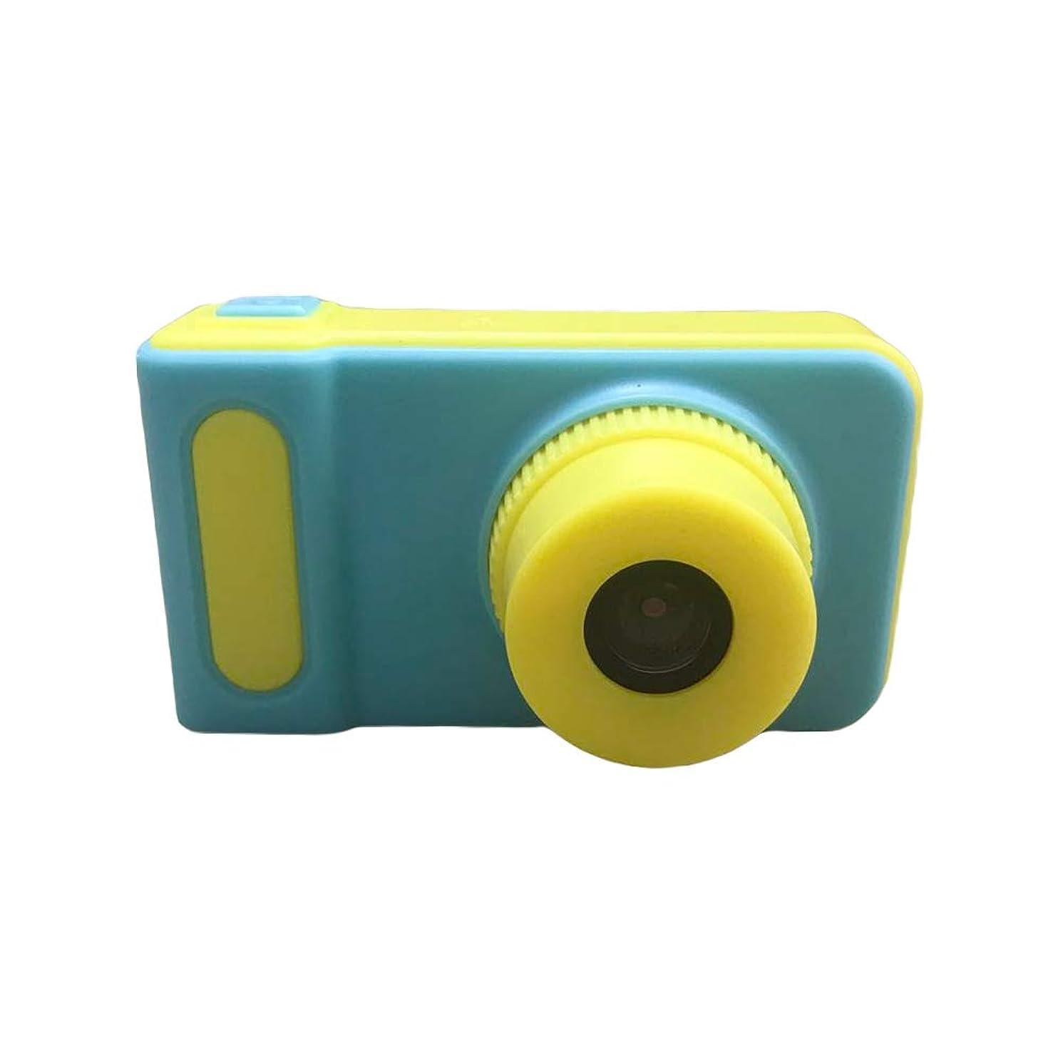 教授軸憂慮すべき子供のデジタルカメラ12MP HD 1080Pサポート32GBビデオカメラ子供水泳 (ブルー)