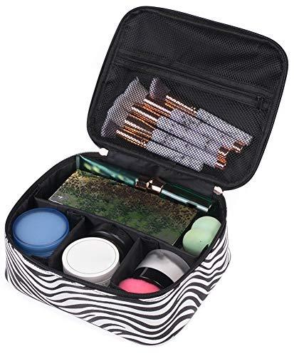 Icegrey Beauty Case da Viaggio in Marmo Impermeabile Borsa Cosmetica Grande Zebra nera 22x18.5x8.5cm