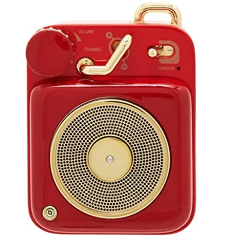 Muzen Botón rojo escarlata mini altavoz inalámbrico portátil Bluetooth