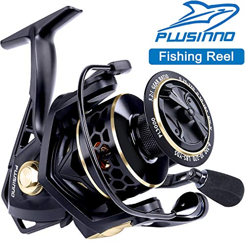 PLUSINNO Fishing Reel, 9 +1BB Spinning Reel, Ultra...