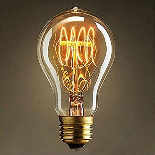 Tenflyer (23 Anchors Edison Lampe Warmweiß Vintage Stil Edison Glühbirne Retro Licht Vintage Bulb Antik E27 40W 220V A19