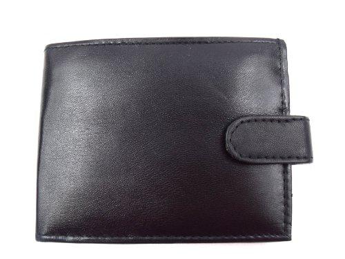 Emporium Leather Souple pour Hommes Cuir Noir Portefeuille