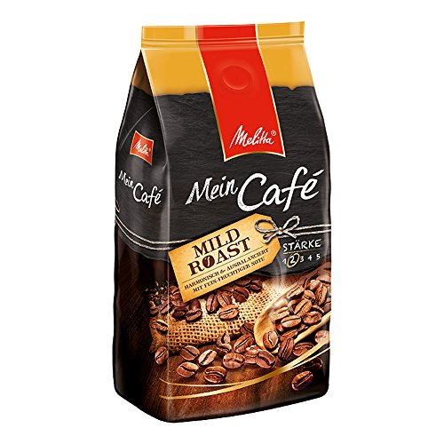 Melitta Ganze Kaffeebohnen, harmonisch und ausbalanciert mit fein-fruchtiger Note, Stärke 2, Mein Cafe Mild Roast, 1kg