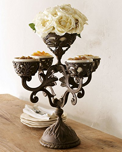 GG Collection Epergne with 5 Ceramic Inserts