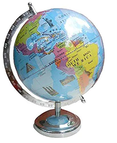 Cosmic Globe Exports Educational world globe (8-inch) ;kid globe with monuments ; rotating globe with sturdy frame; globe for kids 5 years and up; globe for students ;globe for teachers ;desktop globe; globe for office table;home decor;office decor